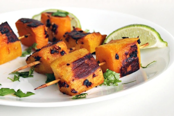 Chipotle-glazed squash skewers by 20something cupcakes