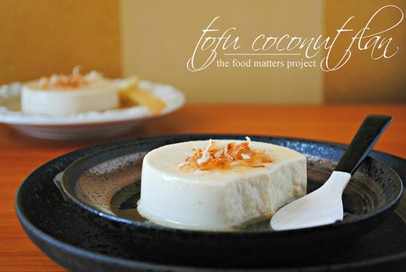 tofu coconut flan