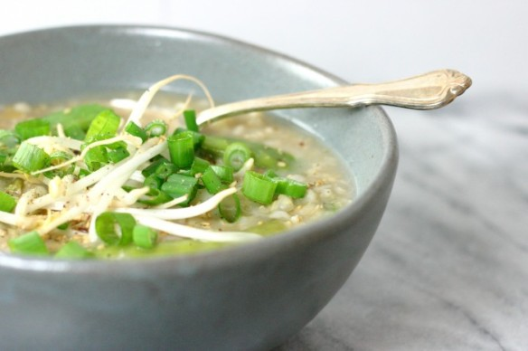 jook with lots of vegetables
