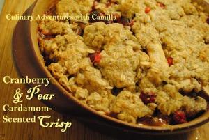 Cardamom Scented Pear Crisp